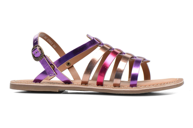 Sandales et nu-pieds Kickers Dixmillion Violet vue derrière