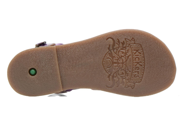 Sandales et nu-pieds Kickers Dixmillion Violet vue haut