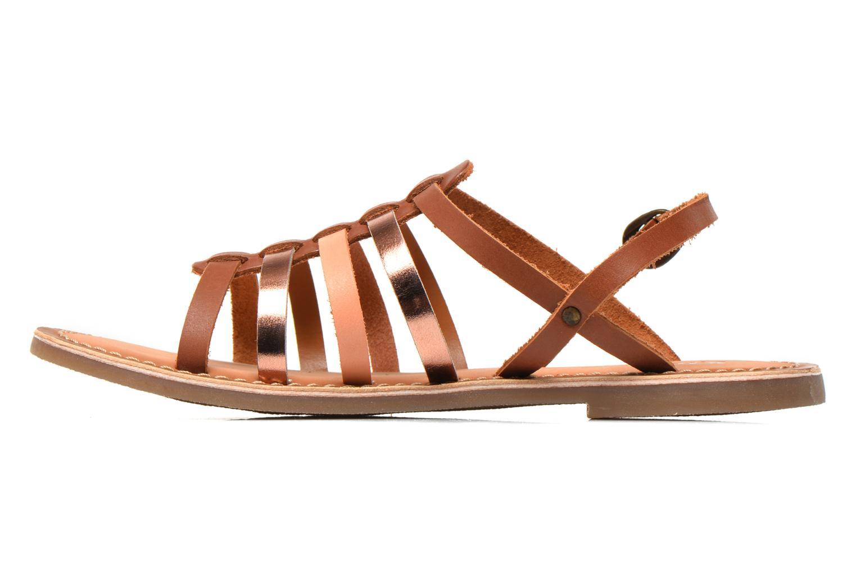 Sandales et nu-pieds Kickers Dixmillion Marron vue face
