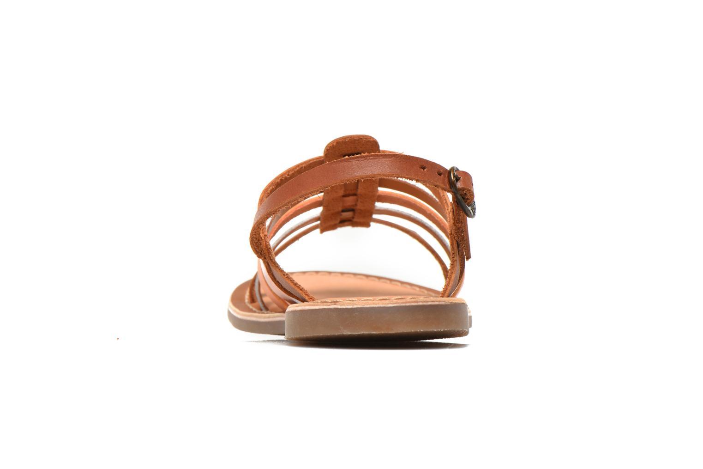 Sandales et nu-pieds Kickers Dixmillion Marron vue droite