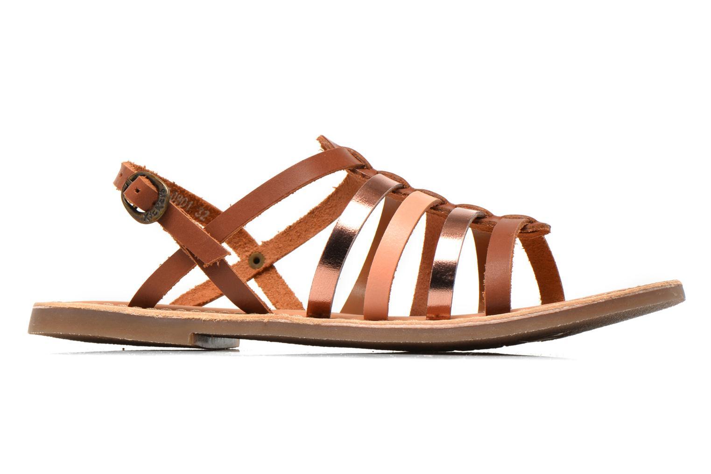 Sandales et nu-pieds Kickers Dixmillion Marron vue derrière