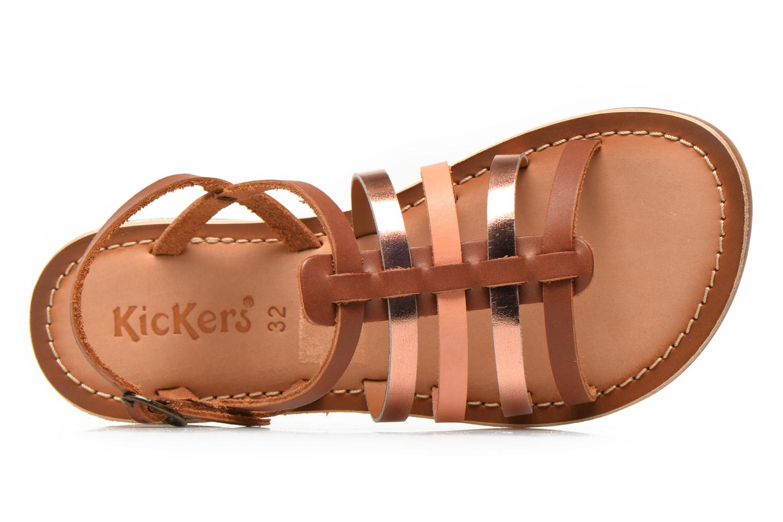 Sandales et nu-pieds Kickers Dixmillion Marron vue gauche
