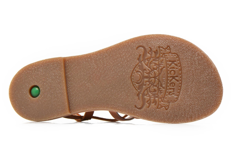 Sandales et nu-pieds Kickers Dixmillion Marron vue haut