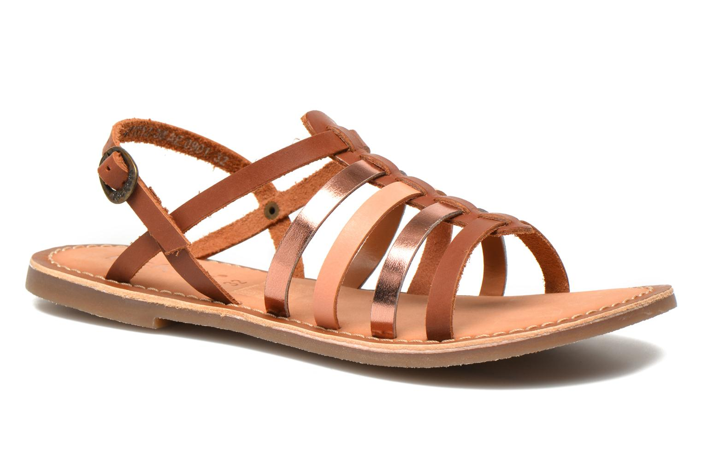 Sandales et nu-pieds Kickers Dixmillion Marron vue détail/paire