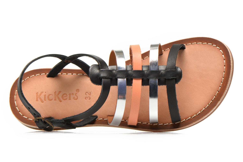 Sandales et nu-pieds Kickers Dixmillion Noir vue gauche