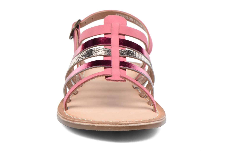 Sandales et nu-pieds Kickers Dixmillion Rose vue portées chaussures