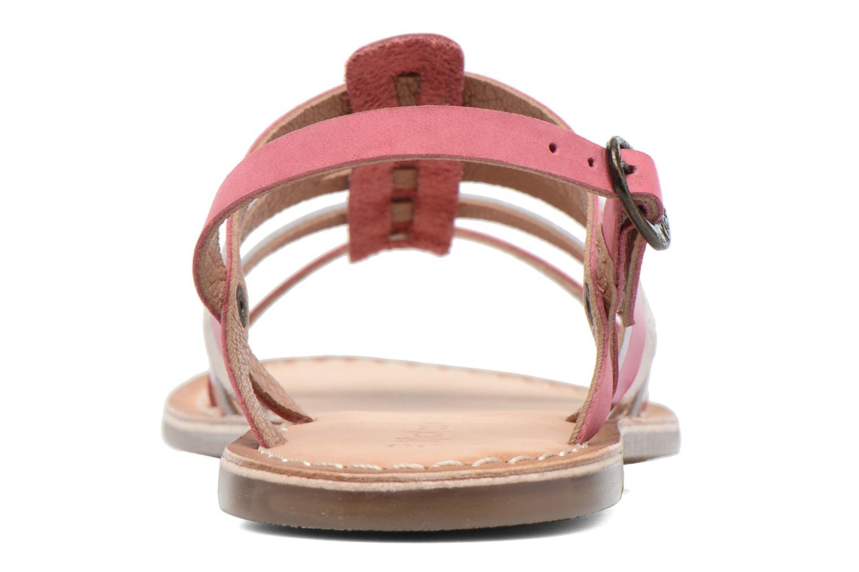 Sandales et nu-pieds Kickers Dixmillion Rose vue droite