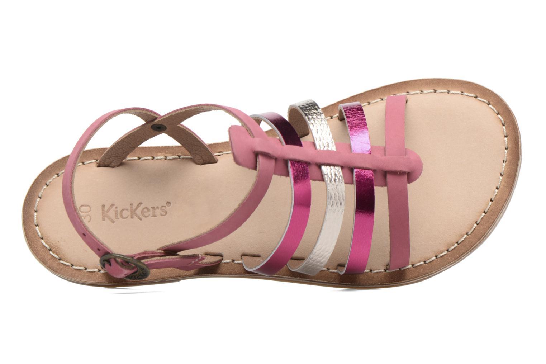 Sandales et nu-pieds Kickers Dixmillion Rose vue gauche