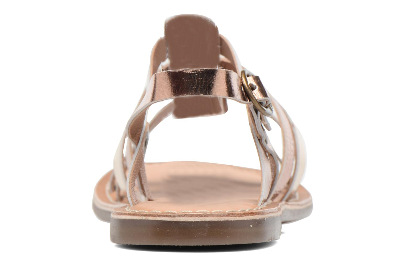 Sandaler Kickers Dixmillion Guld og bronze Se fra højre