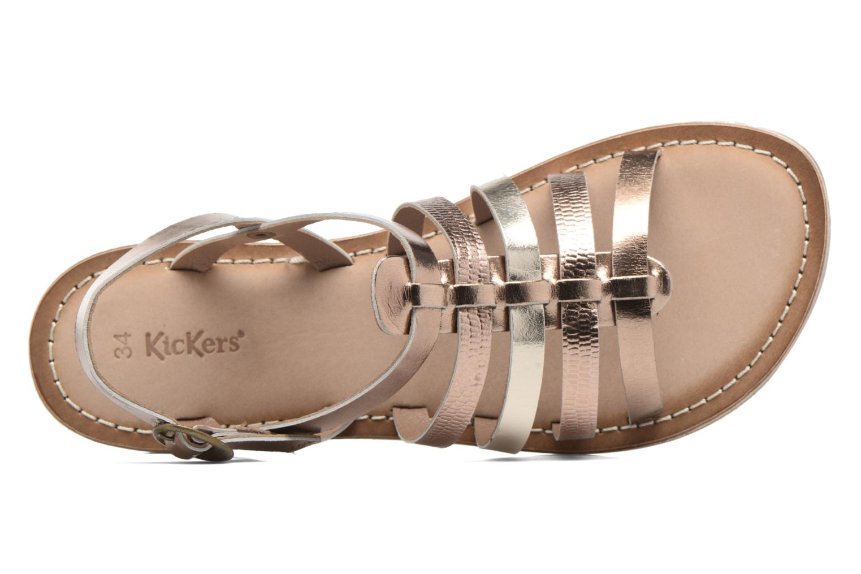 Sandaler Kickers Dixmillion Guld og bronze se fra venstre