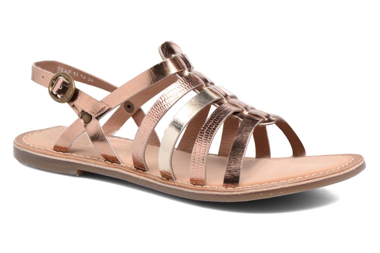 Sandaler Kickers Dixmillion Guld og bronze detaljeret billede af skoene