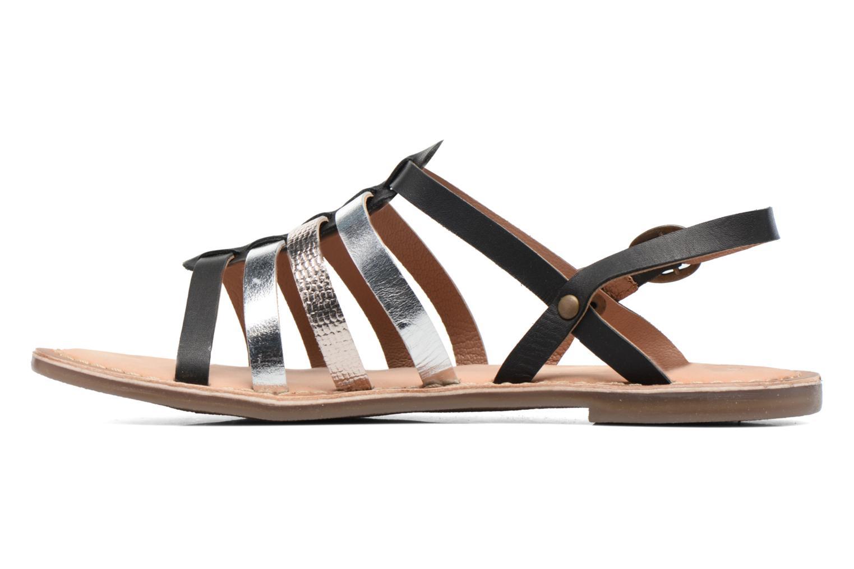 Sandales et nu-pieds Kickers Dixmillion Noir vue face