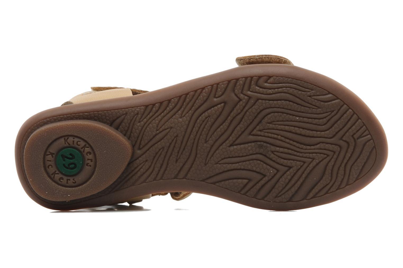 Sandales et nu-pieds Kickers Zebda E Beige vue haut