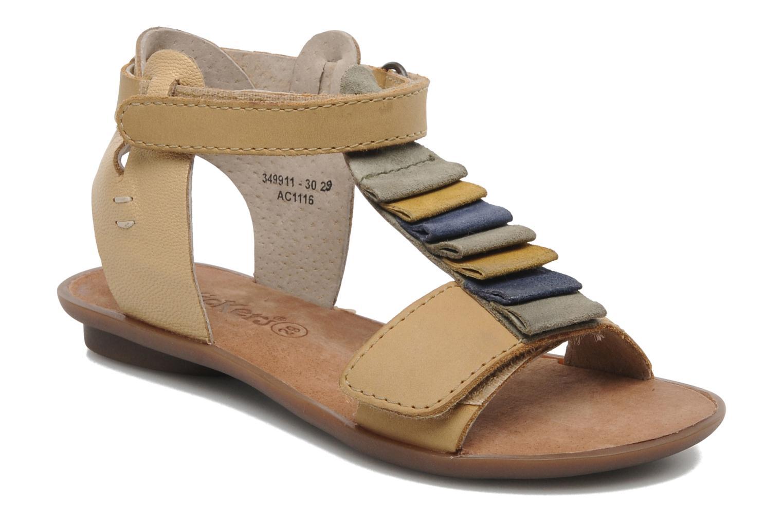 Sandales et nu-pieds Kickers Zebda E Beige vue détail/paire
