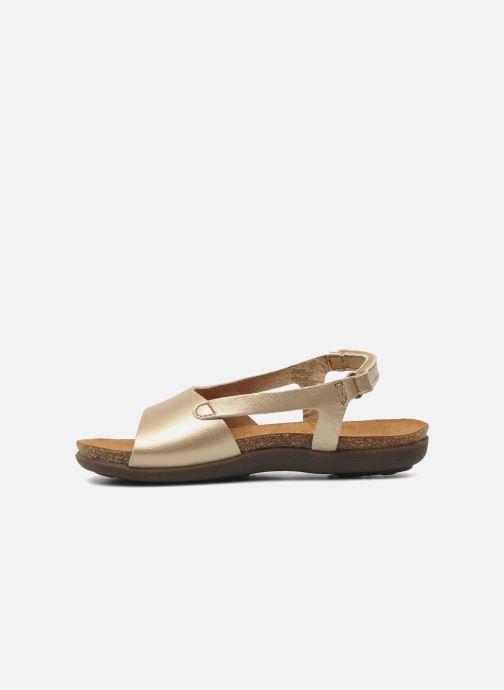 Sandales et nu-pieds Kickers Anatokid Or et bronze vue face