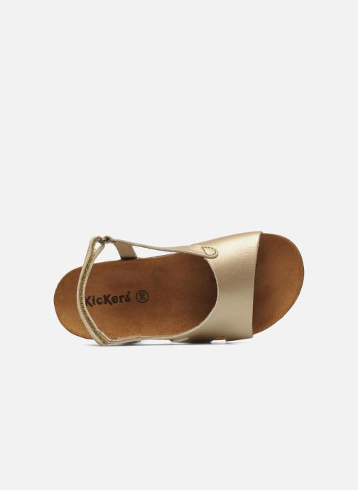 Sandales et nu-pieds Kickers Anatokid Or et bronze vue gauche