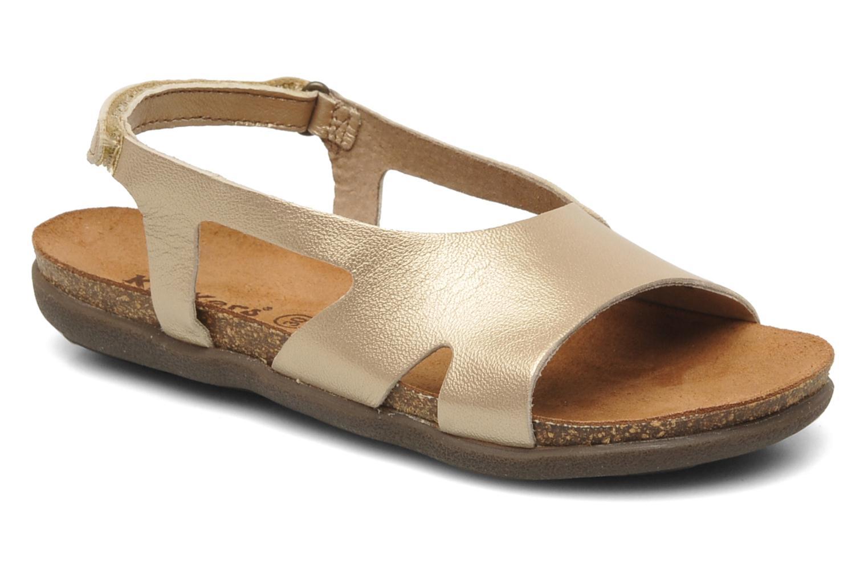 Sandales et nu-pieds Kickers Anatokid Or et bronze vue détail/paire