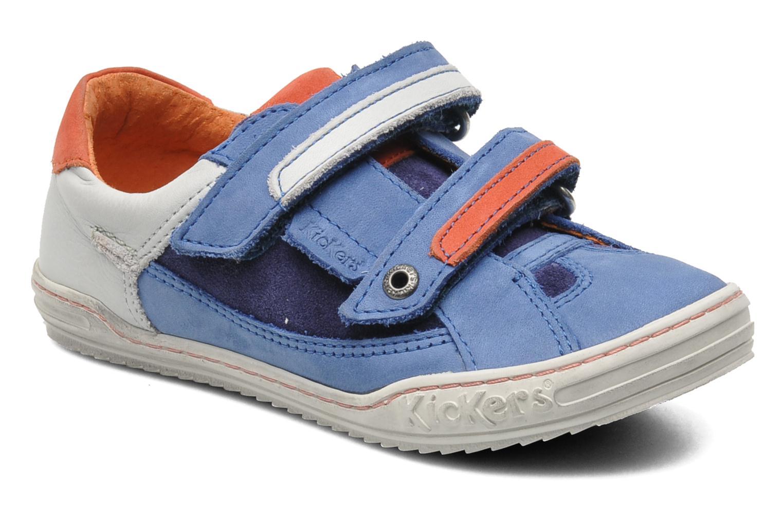 Sneakers Kickers Jingembre Blauw detail
