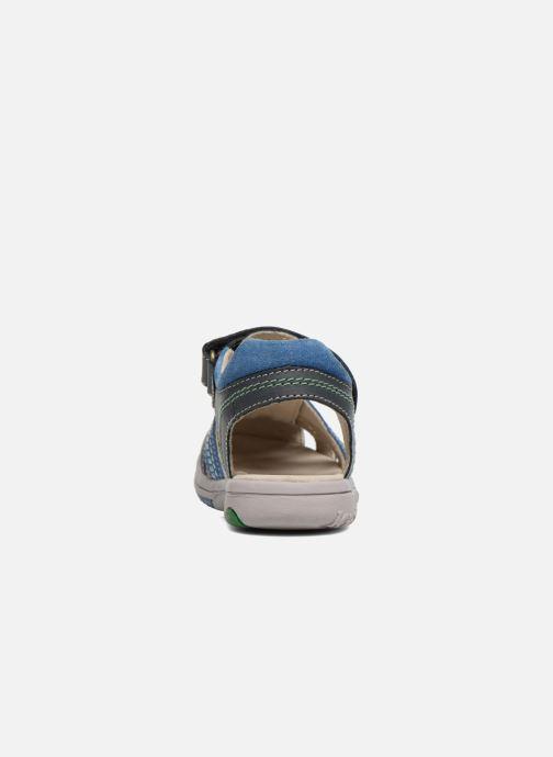 Sandalen Kickers Platinium Blauw rechts