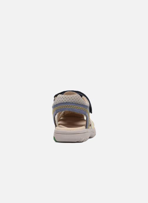 Sandalen Kickers Platinium blau ansicht von rechts