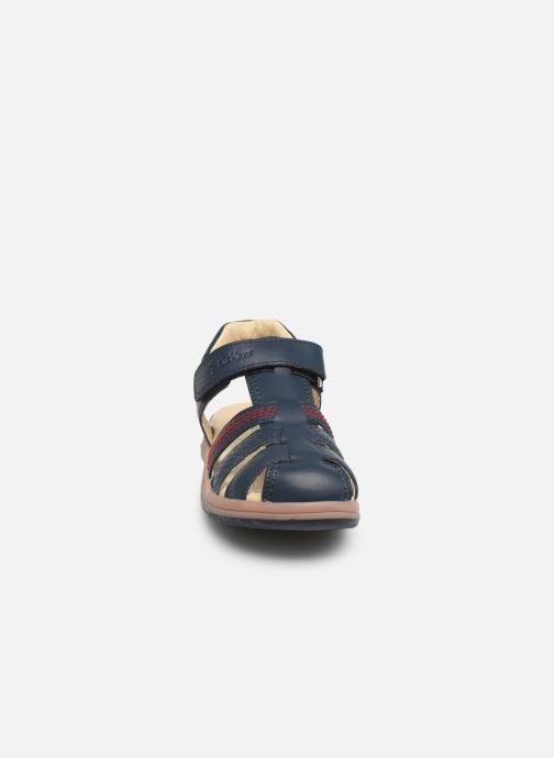 Sandales et nu-pieds Kickers Platinium Bleu vue portées chaussures
