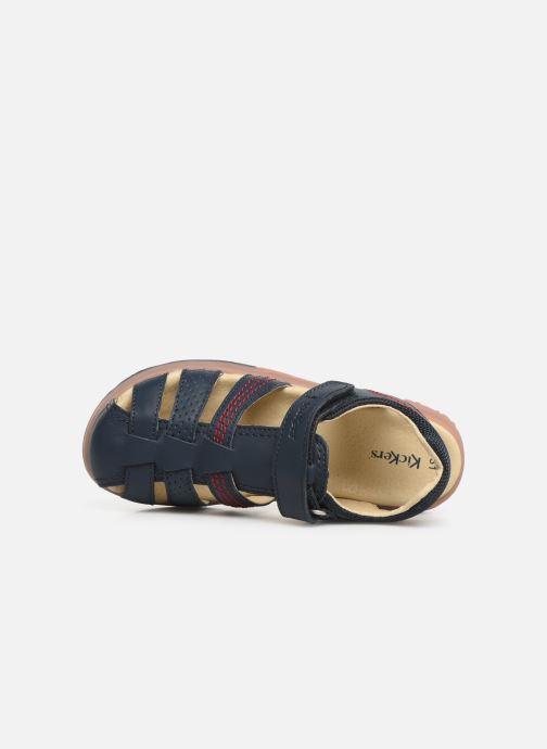 Sandales et nu-pieds Kickers Platinium Bleu vue gauche