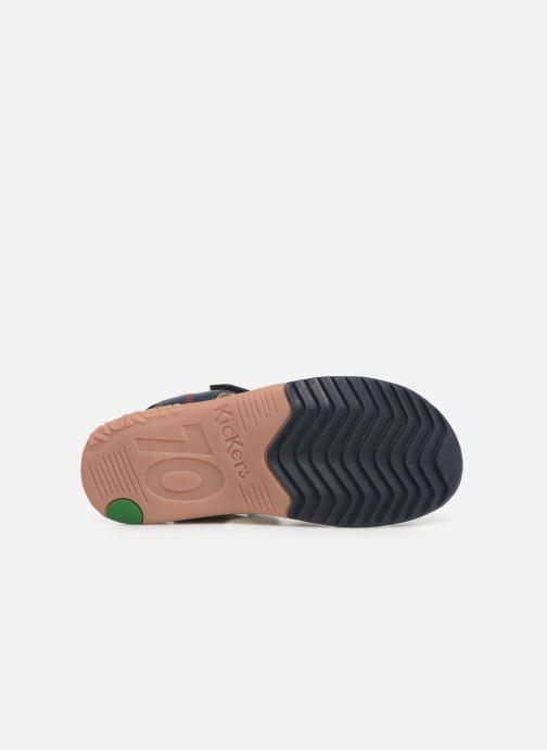 Sandales et nu-pieds Kickers Platinium Bleu vue haut