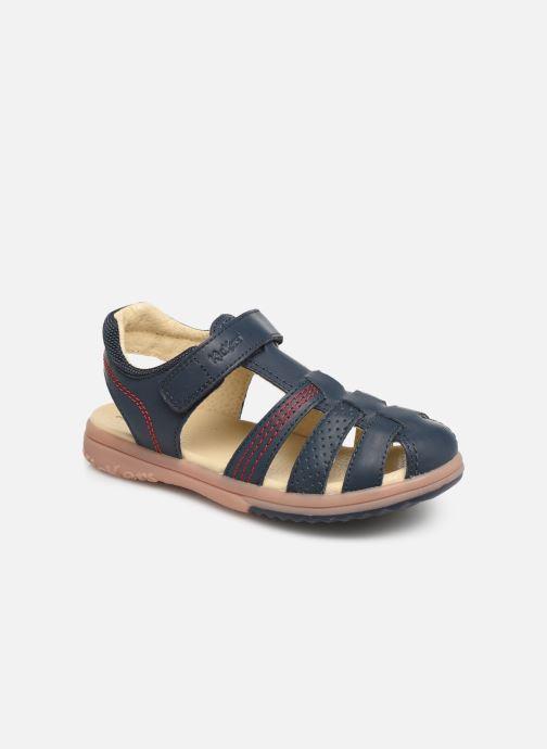 Sandaler Kickers Platinium Blå detaljeret billede af skoene
