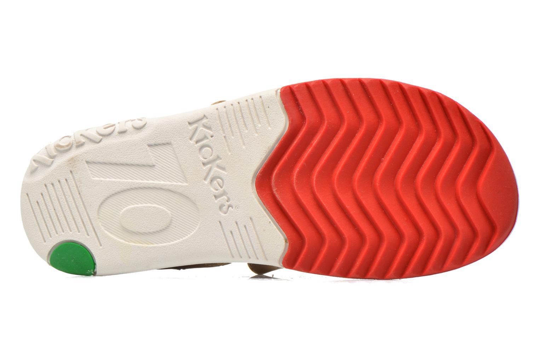 Sandales et nu-pieds Kickers Platinium Gris vue haut
