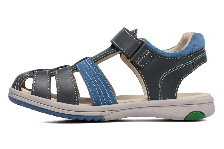 Sandales et nu-pieds Kickers Platinium Bleu vue face