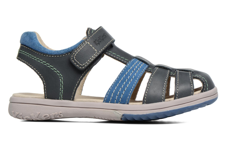 Sandales et nu-pieds Kickers Platinium Bleu vue derrière