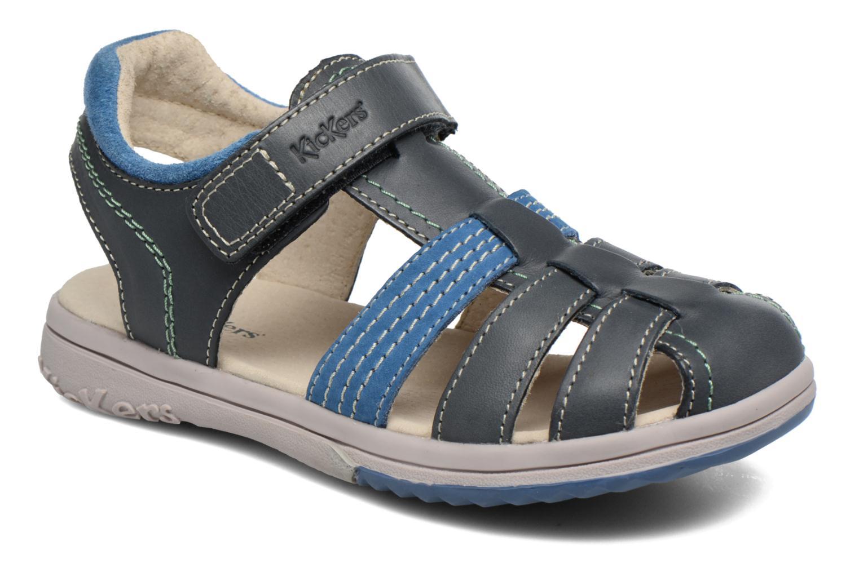 Sandales et nu-pieds Kickers Platinium Bleu vue détail/paire