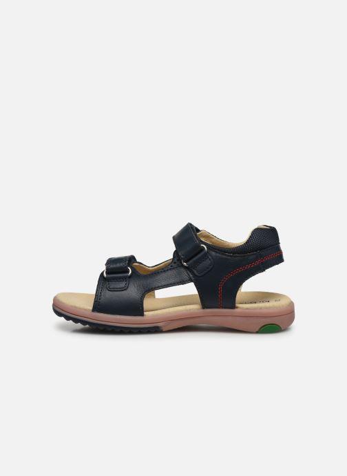 Sandali e scarpe aperte Kickers Platino Azzurro immagine frontale