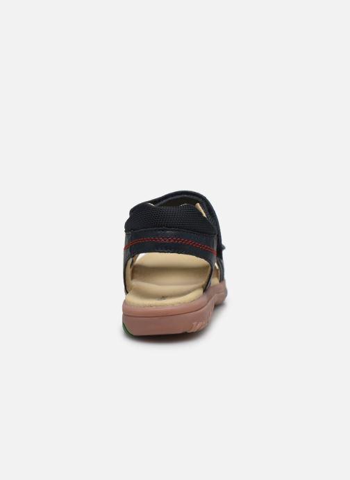 Sandalen Kickers Platino Blauw rechts