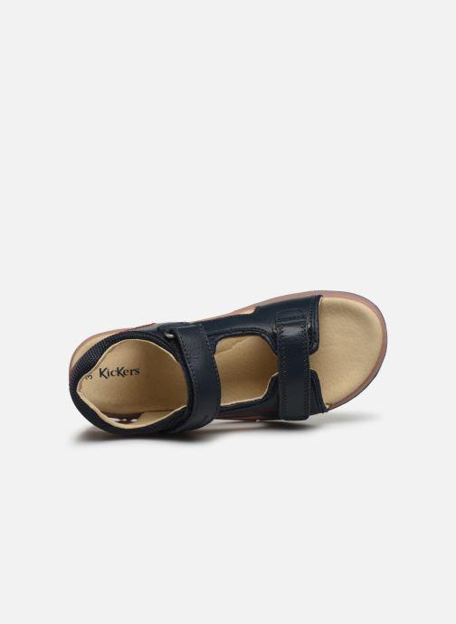 Sandali e scarpe aperte Kickers Platino Azzurro immagine sinistra