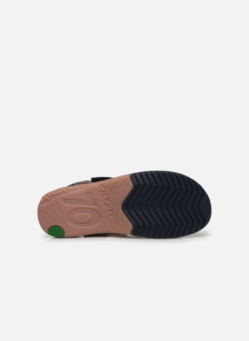 Sandali e scarpe aperte Kickers Platino Azzurro immagine dall'alto