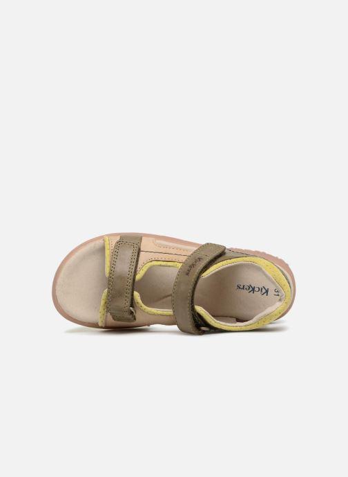 Sandales et nu-pieds Kickers Platino Vert vue gauche
