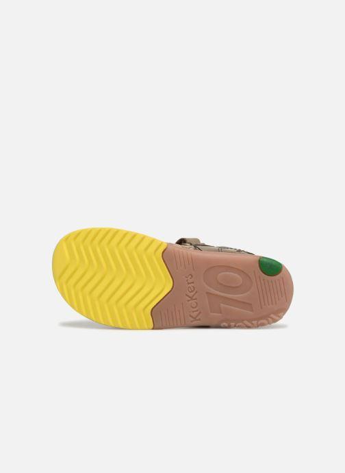 Sandales et nu-pieds Kickers Platino Vert vue haut
