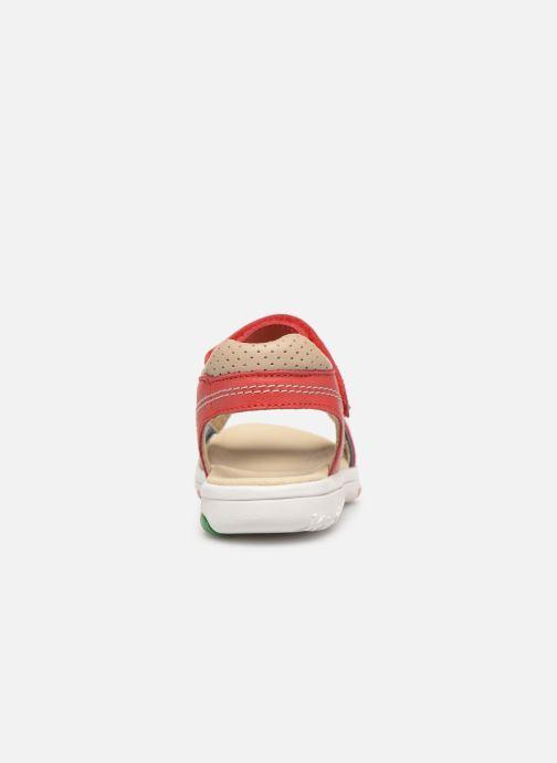 Sandales et nu-pieds Kickers Platino Rouge vue droite