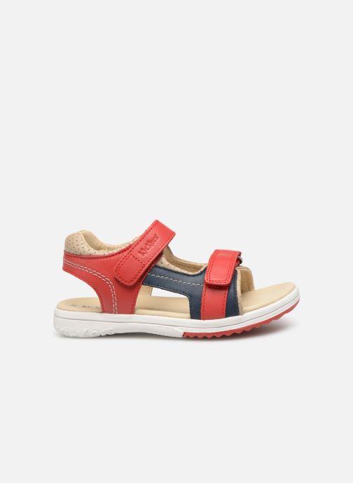 Sandales et nu-pieds Kickers Platino Rouge vue derrière