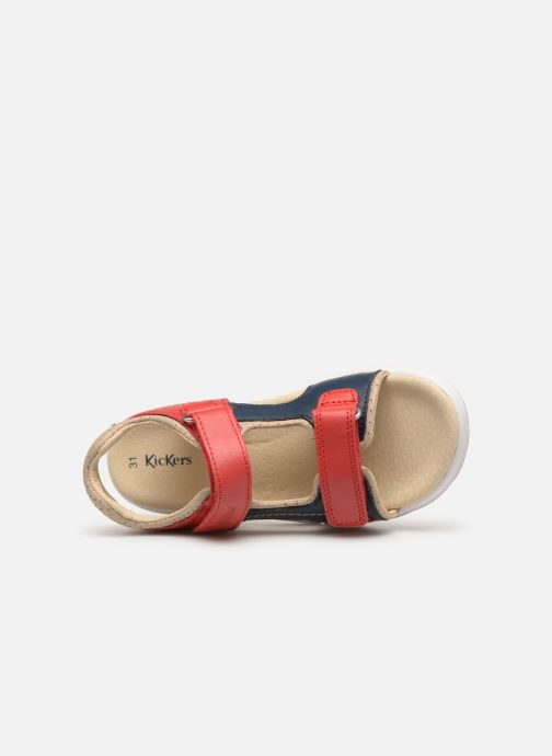 Sandales et nu-pieds Kickers Platino Rouge vue gauche