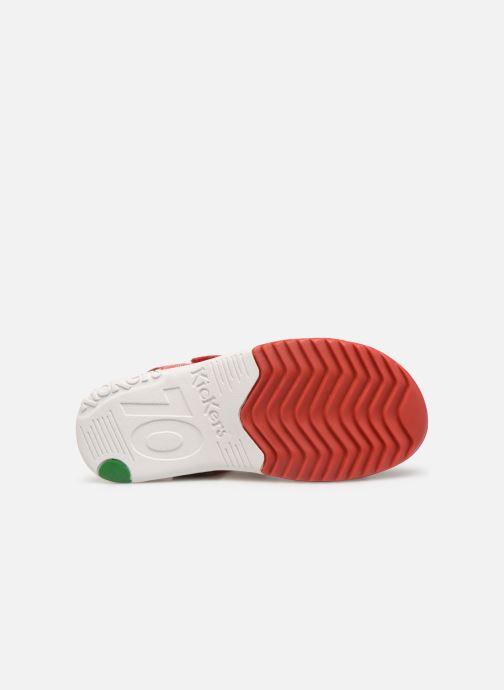 Sandales et nu-pieds Kickers Platino Rouge vue haut