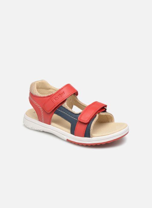Sandales et nu-pieds Kickers Platino Rouge vue détail/paire