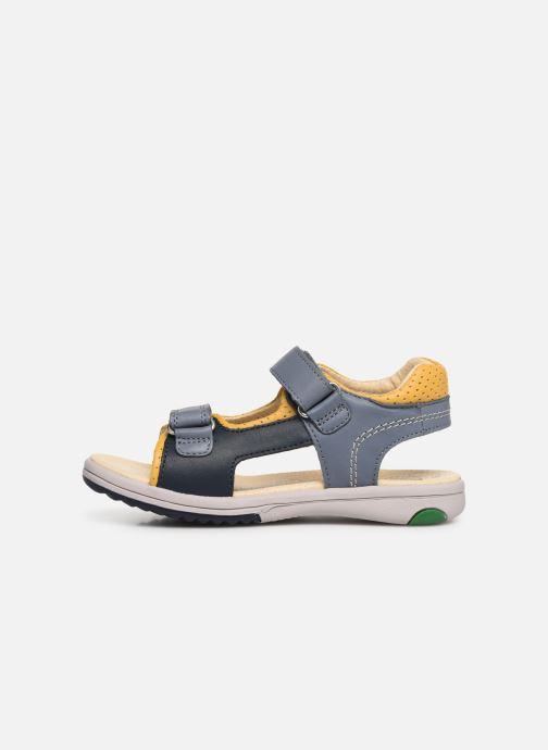 Sandalen Kickers Platino blau ansicht von vorne