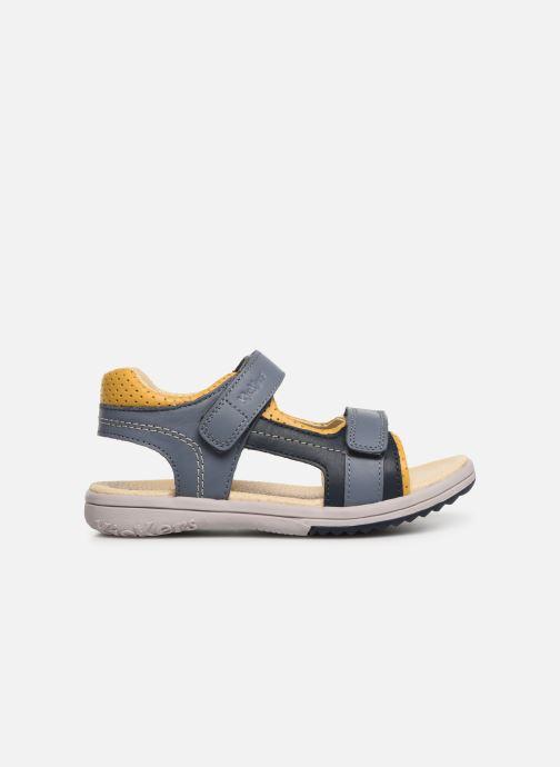 Sandalen Kickers Platino blau ansicht von hinten