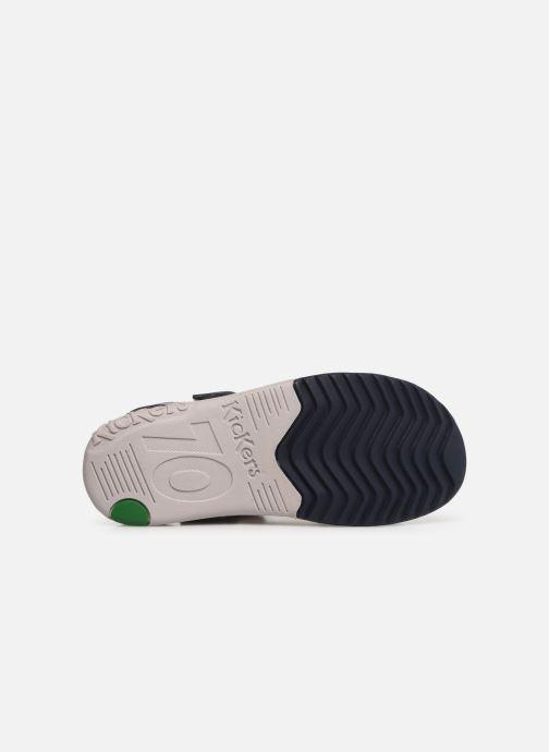 Sandalen Kickers Platino blau ansicht von oben