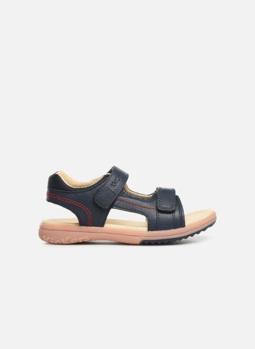 Sandales et nu-pieds Kickers Platino Bleu vue derrière