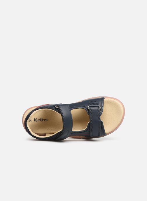 Sandales et nu-pieds Kickers Platino Bleu vue gauche