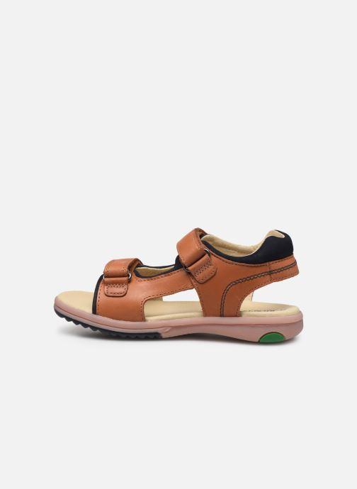 Sandales et nu-pieds Kickers Platino Marron vue face