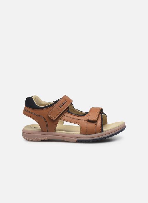 Sandalen Kickers Platino braun ansicht von hinten